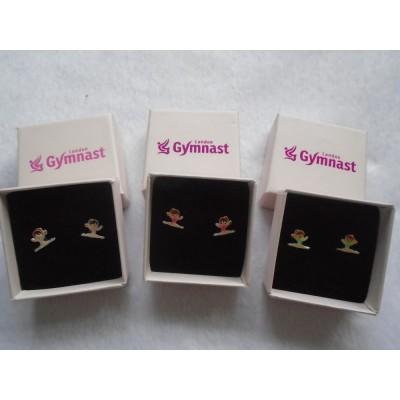 Silver Gymnast Earrings